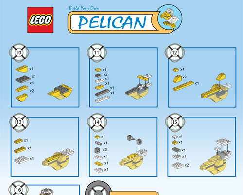 Lego Pelican Building Sheet